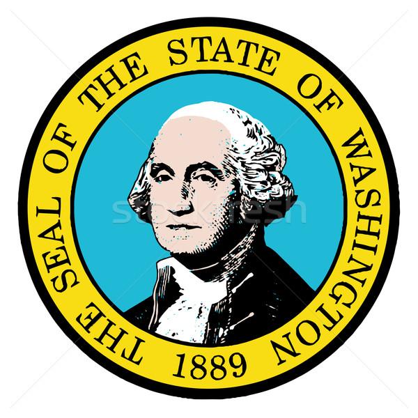 Washington fóka fehér művészet grafikus Stock fotó © Bigalbaloo