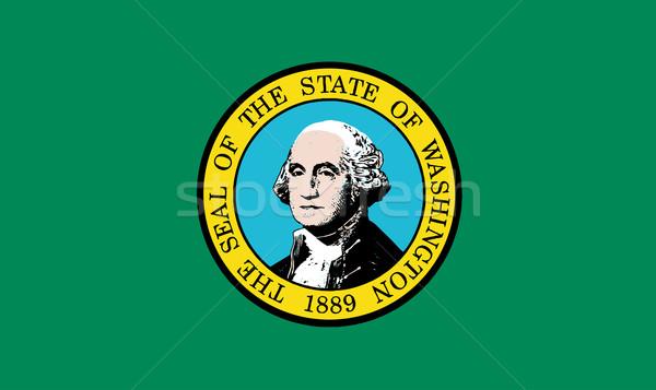 Bayrak Washington mühürlemek Stok fotoğraf © Bigalbaloo