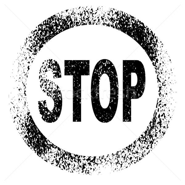 Stop bélyeg pecsét fekete tinta legenda Stock fotó © Bigalbaloo