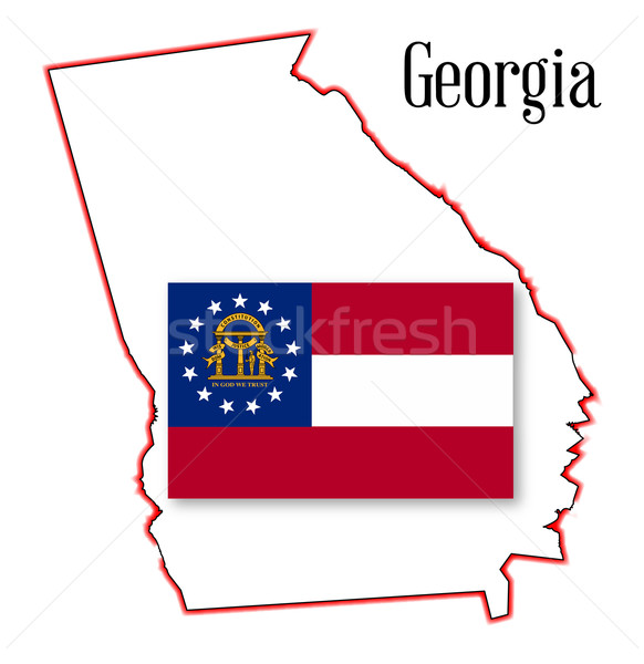 Georgia State Map and Seal Stock photo © Bigalbaloo
