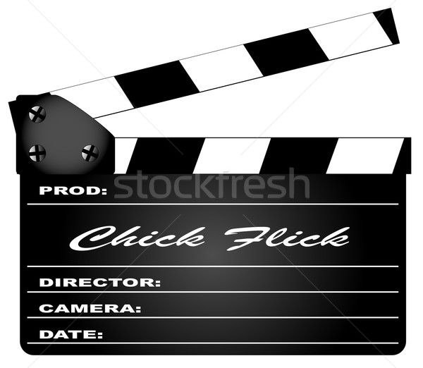 Chick Flick Clapperboard Stock photo © Bigalbaloo