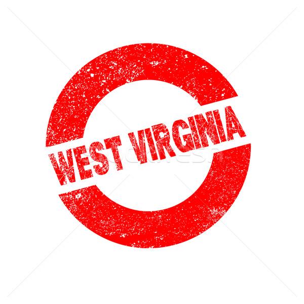 Gumi tinta bélyeg Nyugat-Virginia szöveg Stock fotó © Bigalbaloo