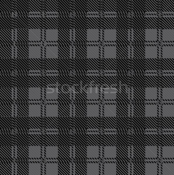 Szary sprawdzić wełny materiału czarny rysunek Zdjęcia stock © Bigalbaloo
