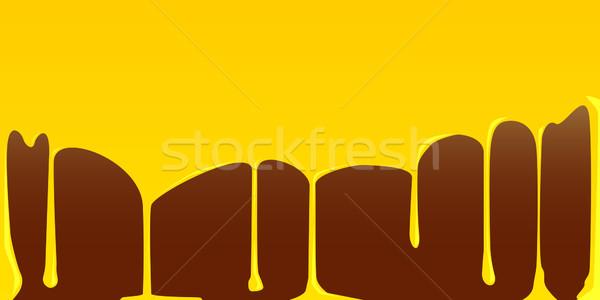 Krem czekolady pudding streszczenie żywności tle Zdjęcia stock © Bigalbaloo