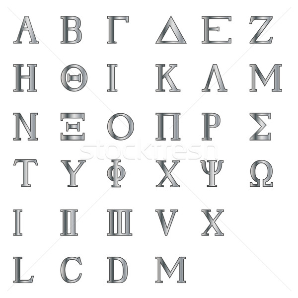 Greek Letters and Numbers Stock photo © Bigalbaloo