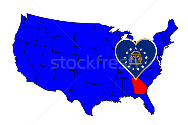 State of Georgia Stock photo © Bigalbaloo
