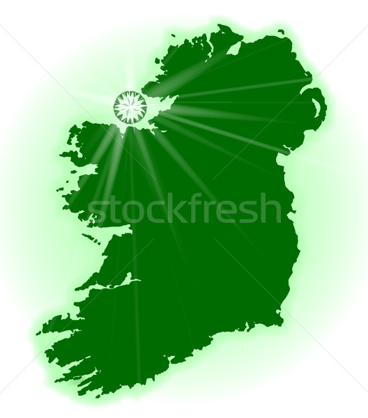 Eire The Emerald Isle Stock photo © Bigalbaloo