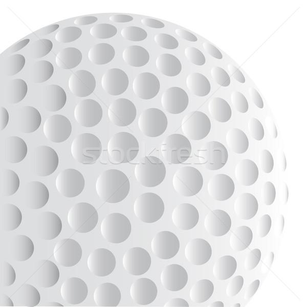 Golflabda részlet izolált fehér golf labda Stock fotó © Bigalbaloo