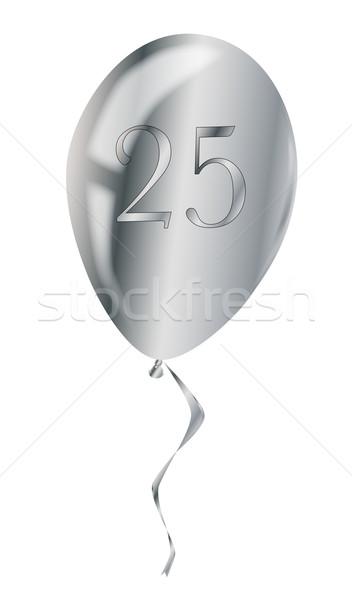 Silver Anniversary Balloon Stock photo © Bigalbaloo