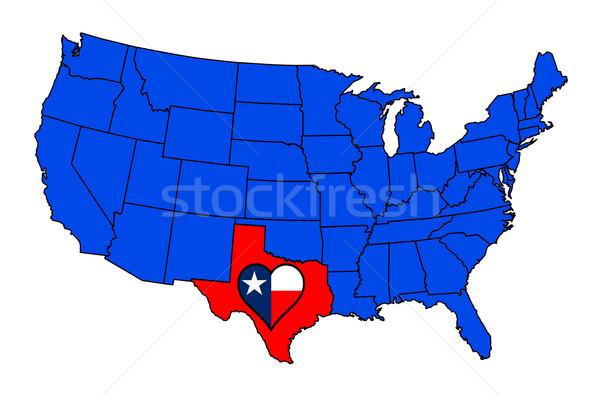 テキサス州 地図 米国 アメリカ 中心 ストックフォト © Bigalbaloo