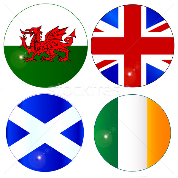 Buttons of the UK and Eire Stock photo © Bigalbaloo