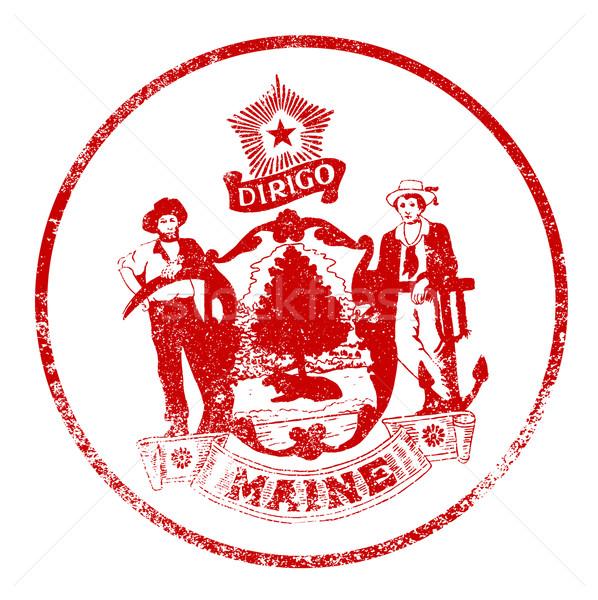 Maine fóka pecsét fehér piros bélyeg Stock fotó © Bigalbaloo