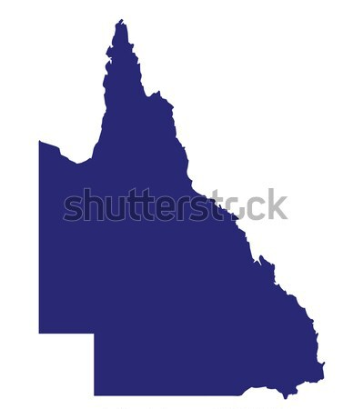 Queensland State Silhouette Stock photo © Bigalbaloo