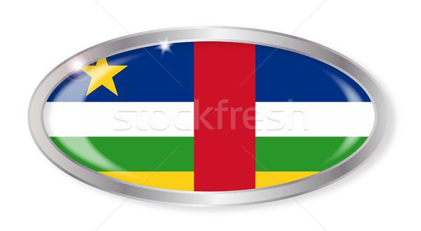 Centraal afrikaanse republiek vlag ovaal knop Stockfoto © Bigalbaloo