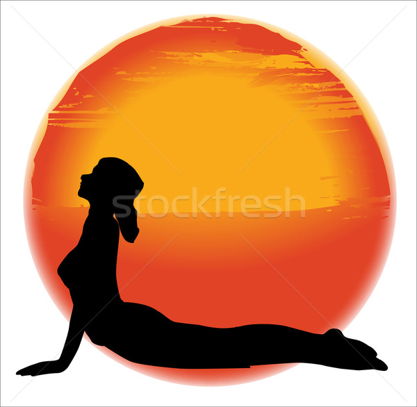 Bhujangasana Yoga Pose Stock photo © Bigalbaloo