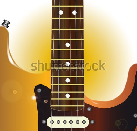Guitar Detail Stock photo © Bigalbaloo