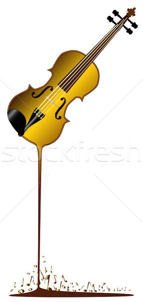 Liquid Violin Stock photo © Bigalbaloo