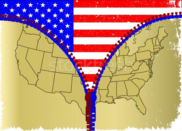 USA rits schets kaart amerika grunge Stockfoto © Bigalbaloo