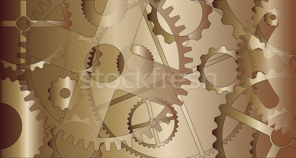 Steam Punk Gears Stock photo © Bigalbaloo