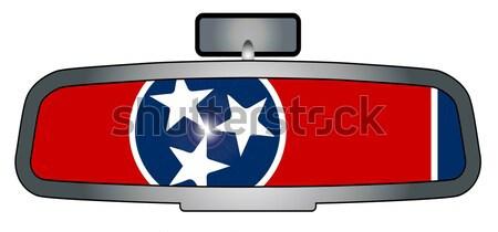 Sürücü Teksas araç ayna bayrak Stok fotoğraf © Bigalbaloo