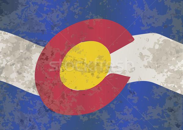 Colorado State Flag Stock photo © Bigalbaloo