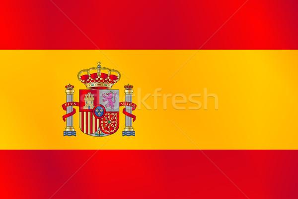スペイン国旗 フラグ スペイン アイコン 赤 黄色 ストックフォト © Bigalbaloo