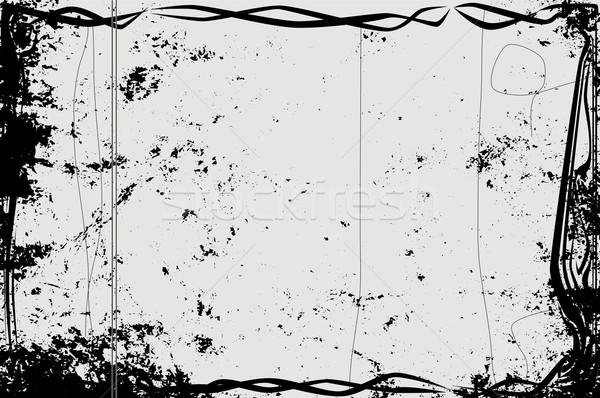Eski sessiz film çerçeve aşırı ağır Stok fotoğraf © Bigalbaloo