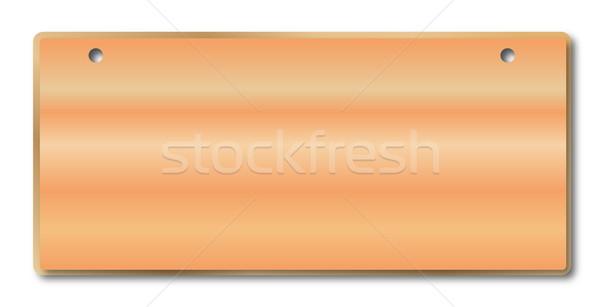 Blank Wooden Sign Stock photo © Bigalbaloo
