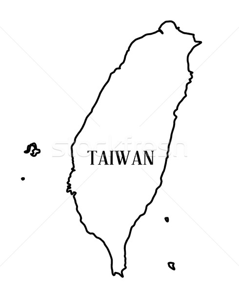 Taiwan Outline Map Stock photo © Bigalbaloo
