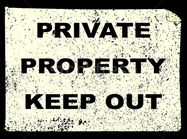 Private Property Stock photo © Bigalbaloo