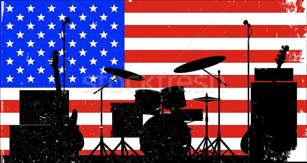 USA rock band stelle bandiera Foto d'archivio © Bigalbaloo
