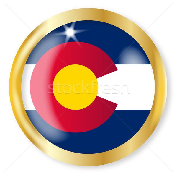 Colorado bayrak düğme altın Metal Stok fotoğraf © Bigalbaloo