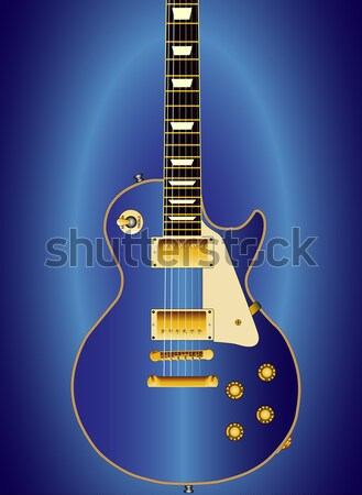 Solid Body Electric Guitar Blueprint Stock photo © Bigalbaloo