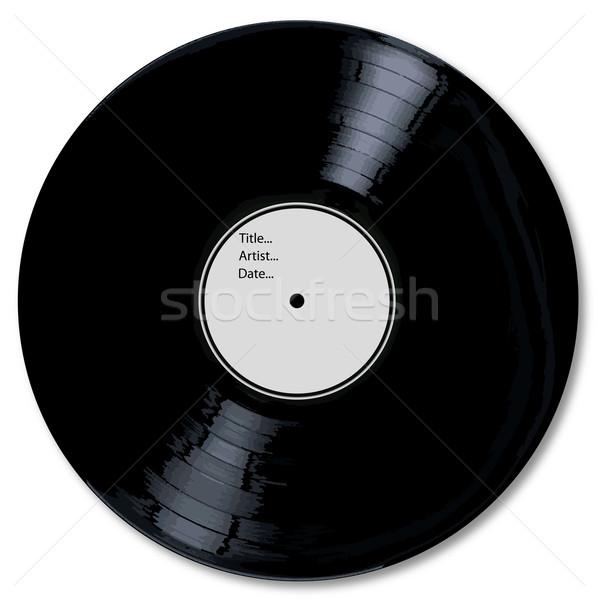 Blank White Record Label Stock photo © Bigalbaloo