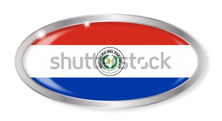 Paraguay Flag Oval Button Stock photo © Bigalbaloo