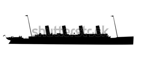 The Titanic Silhouette Stock photo © Bigalbaloo