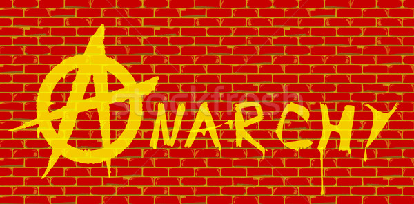 Anarchy Red Brick Wall Stock photo © Bigalbaloo
