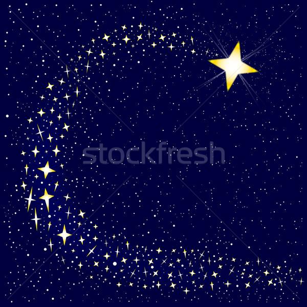 Stella cadente parecchi star cielo notte Natale Foto d'archivio © Bigalbaloo