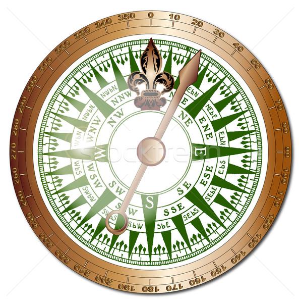 Ships Compass Stock photo © Bigalbaloo