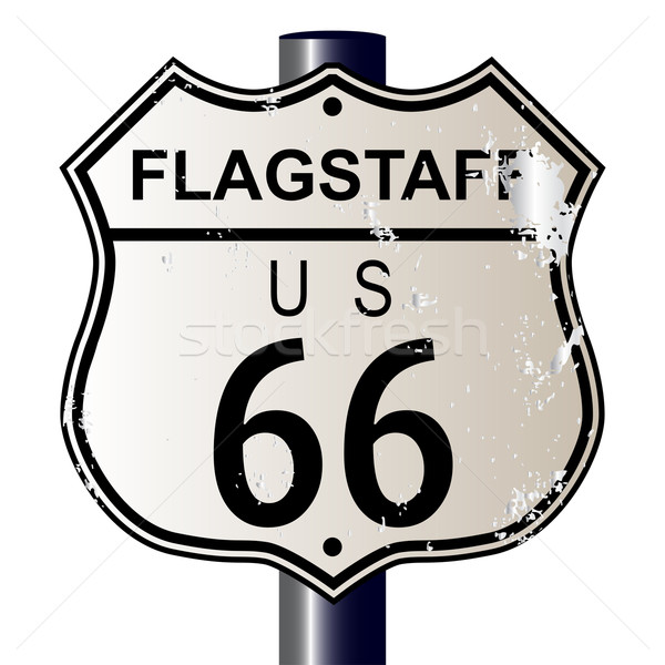 Flagstaff Route 66 Sign Stock photo © Bigalbaloo