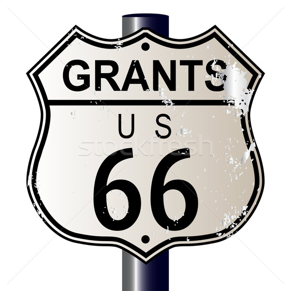 Grants Route 66 Sign Stock photo © Bigalbaloo
