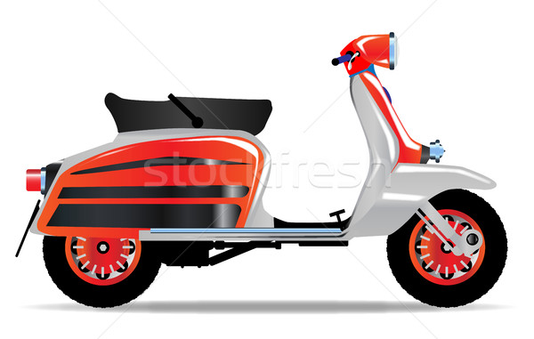 60s motosiklet tipik 1960 stil Stok fotoğraf © Bigalbaloo