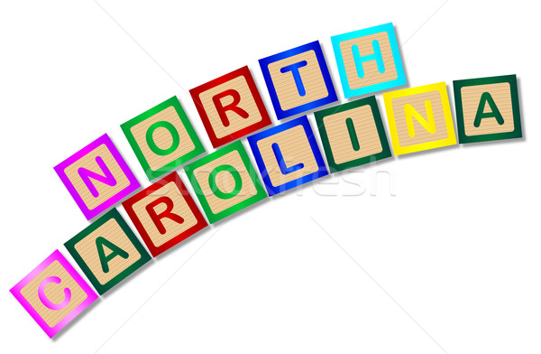 Carolina del Nord legno lettere raccolta ortografia bianco Foto d'archivio © Bigalbaloo