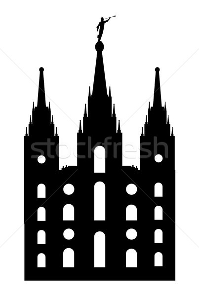Stile tempio disegno silhouette bianco arte Foto d'archivio © Bigalbaloo