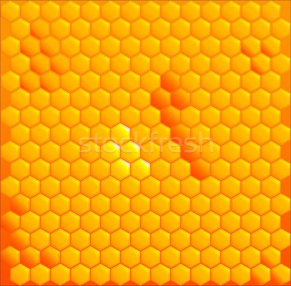 Miel brillante amarillo panal dorado alimentos Foto stock © Bigalbaloo
