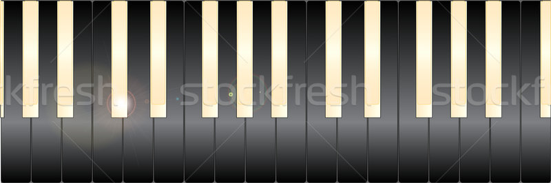 White And Black Piano Keys Stock photo © Bigalbaloo