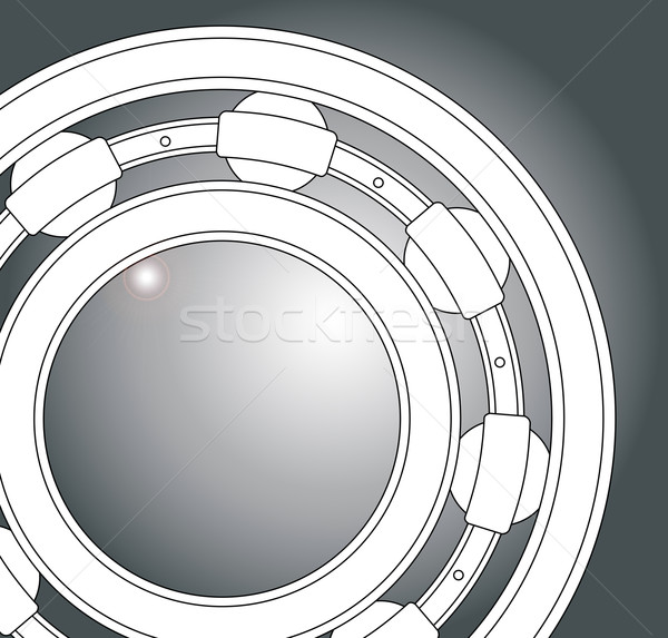 Ball Bearing Close Up Stock photo © Bigalbaloo