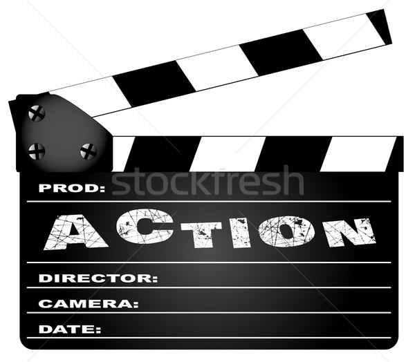 Action Movie Clapperboard Stock photo © Bigalbaloo