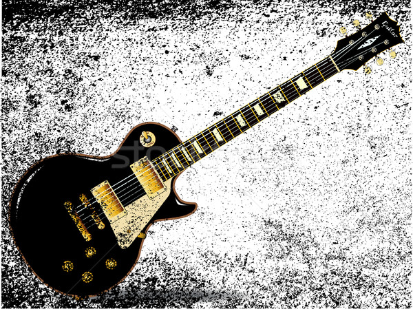 Solide blues grunge Rock rouler guitare Photo stock © Bigalbaloo