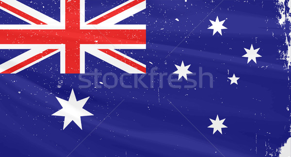 Australian Flag Stock photo © Bigalbaloo